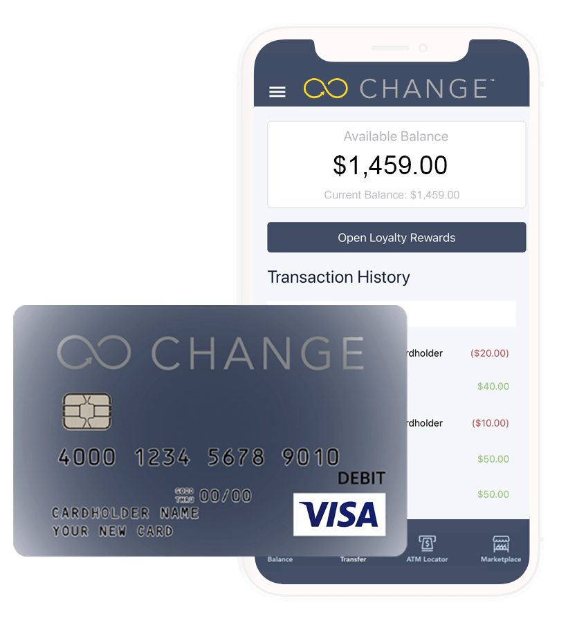 CHANGE card mobile view and paycard - convenient and simple